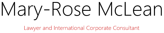 Mary-Rose McLean - Lawyer and International Corporate Consultant